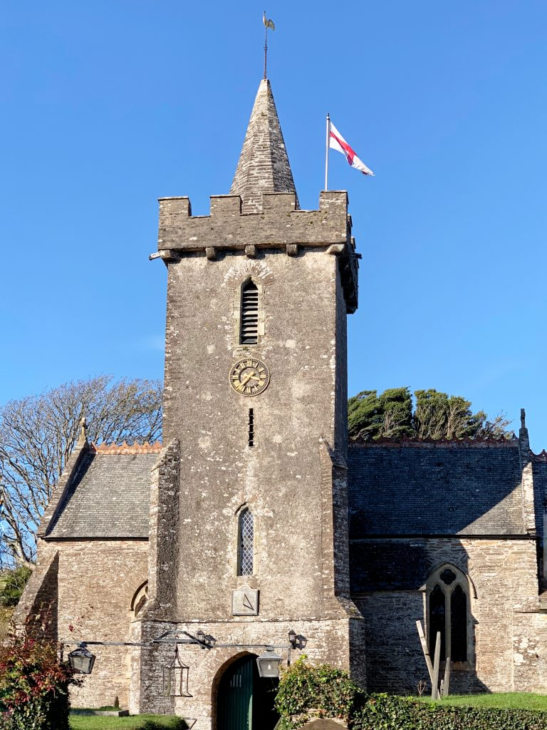 The Church of All Hallows in the village of Ringmore, the South Hams, Devon