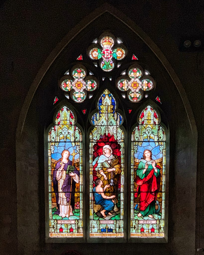 Stained Glass Window at St Matthew's Church, Landscove, Devon