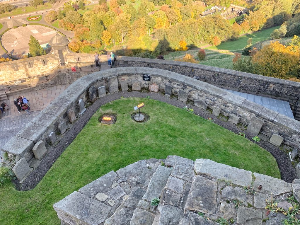 View of the Dog Cemetery at Edinburgh Castle