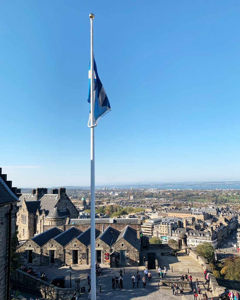View over Edinburgh from Edinburgh Castle