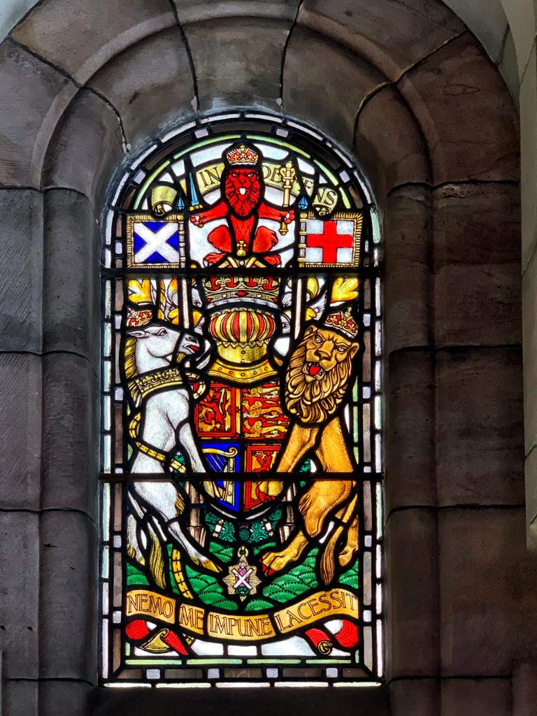 Stained Glass window in the Scottish National War Memorial at Edinburgh Castle