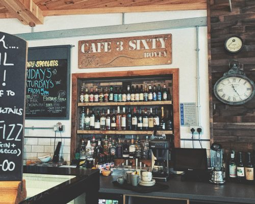 Cafe 3 Sixty bar in Bovey Tracey, Devon, England