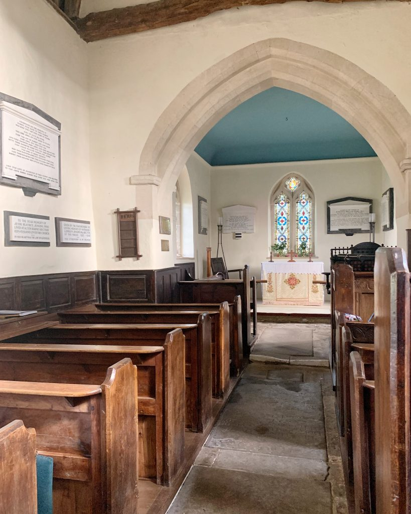 Interior of Anglo-Saxon Church at Alton Barnes, Pewsey Vale, Wiltshire