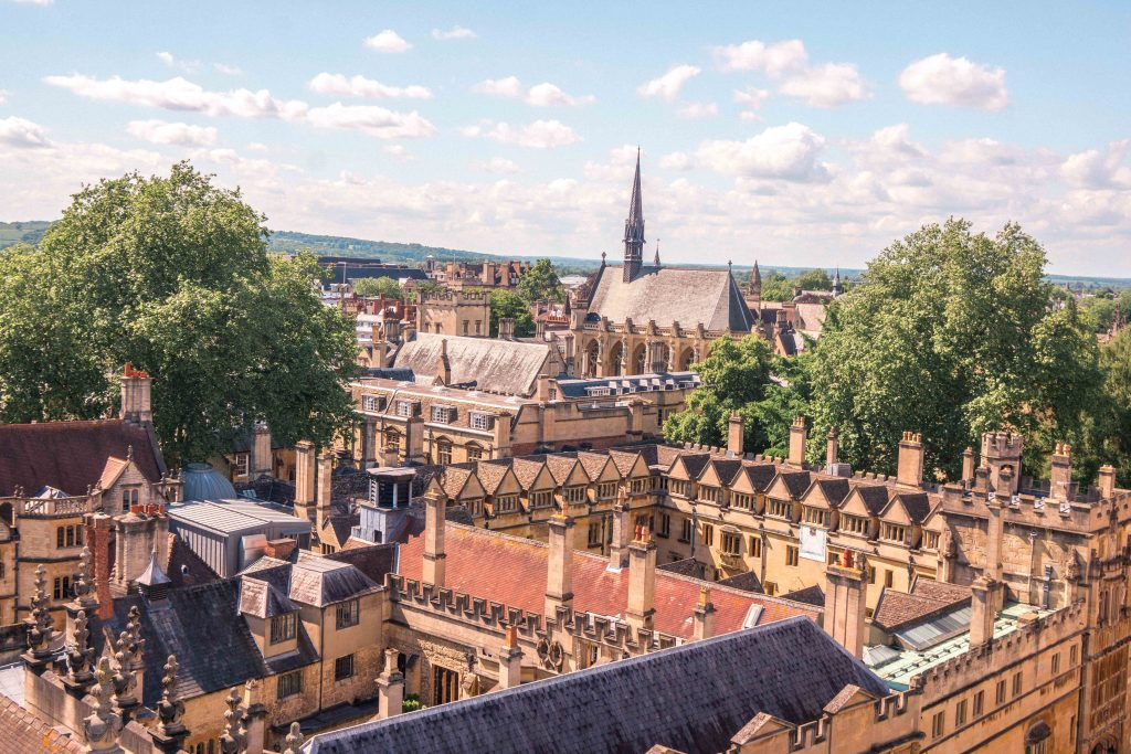 For the best view of the city of Oxford, be sure to go up the tower of St Mary the Virgin!