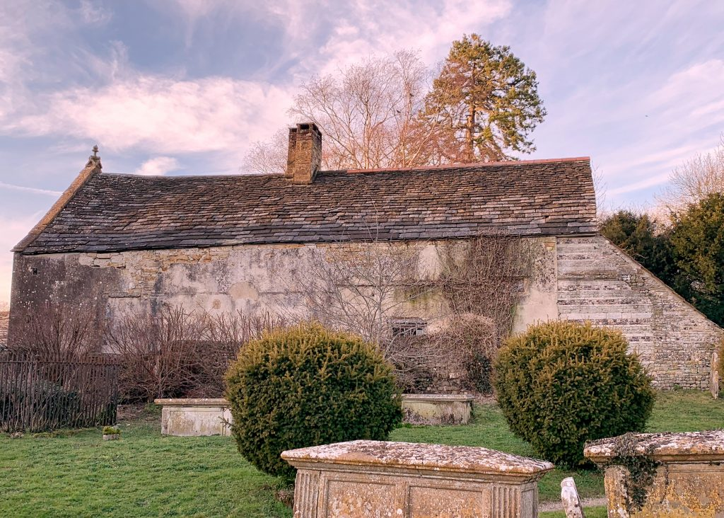 View of the Abbey Guesthouse at Cerne Abbas in Dorset