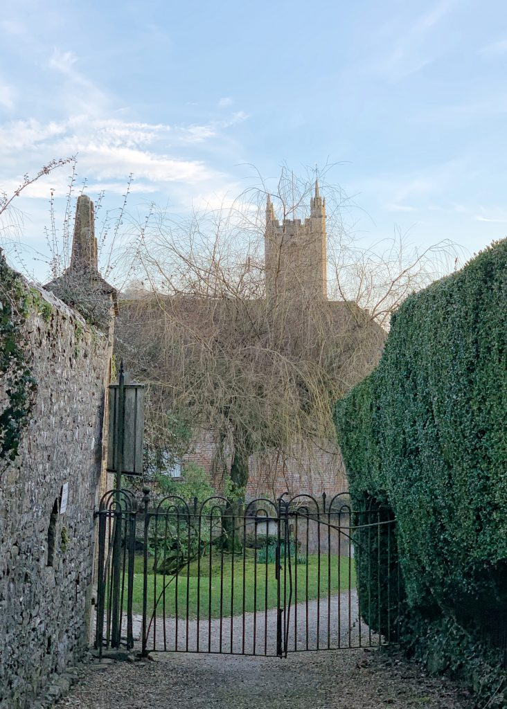 View to Church from Cerne Abbey in Dorset