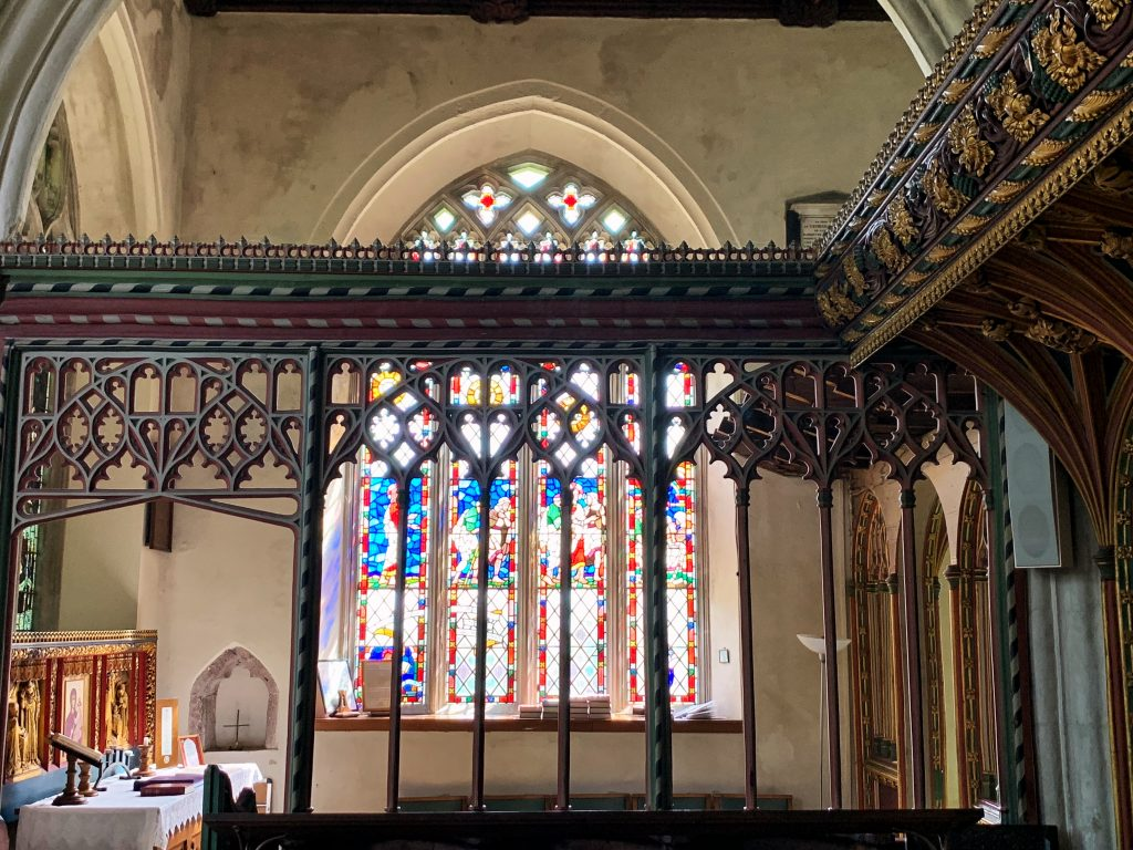 Parclose Screen at Bovey Tracey Church in Devon