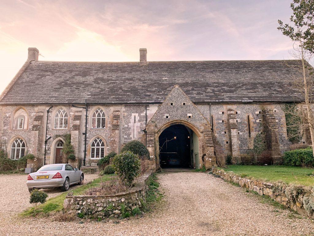 The Tithe Barn at Cerne Abbas in Dorset