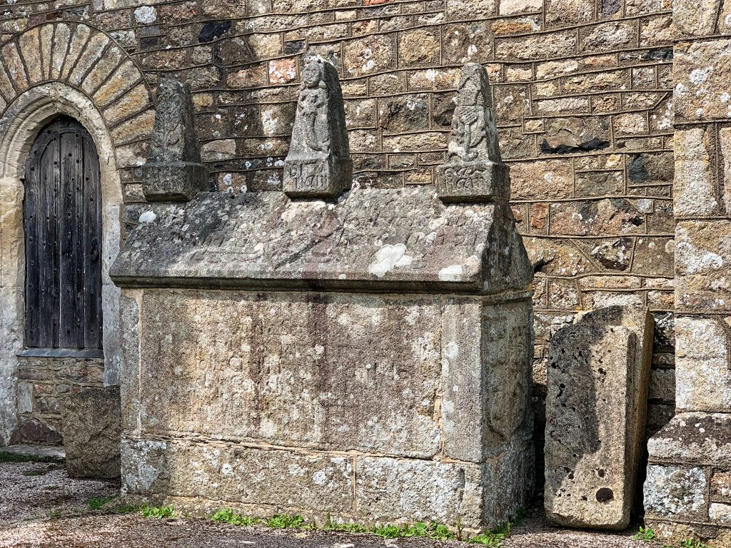 Tomb of Maria Forbes in the churchyard at Bovey Tracey Church in Devon