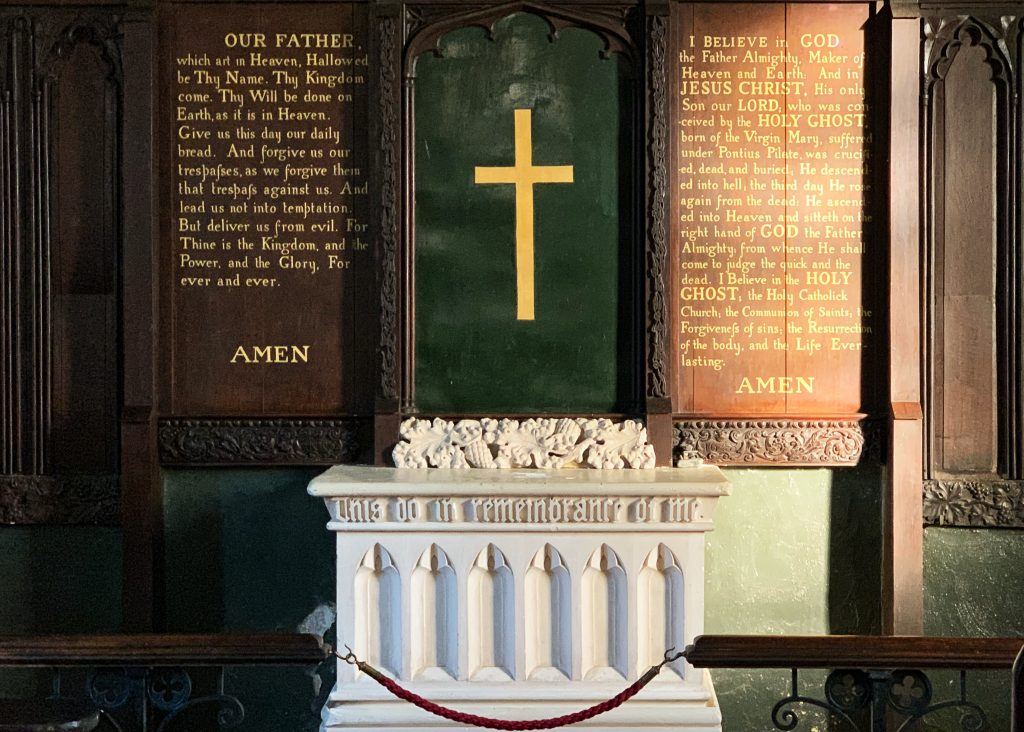 Altar at Wolford Chapel - Memorial to John Graves Simcoe, near Dunkeswell, Devon