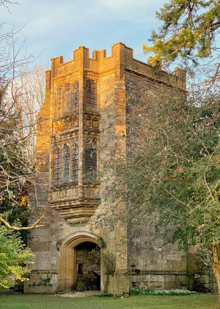 The Abbot's Porch at Cerne Abbey, Cerne Abbas, Dorset