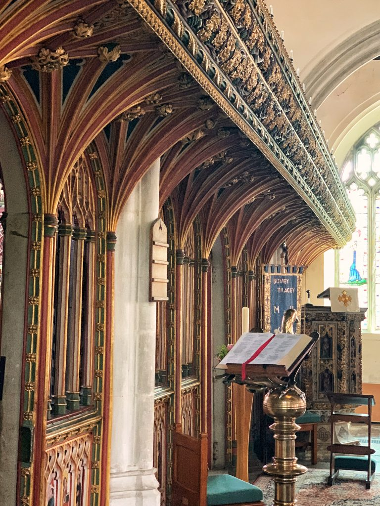 The Rood Screen at Bovey Tracey Parish Church in Devon
