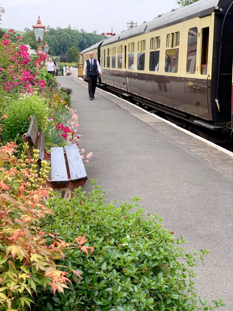 Flower borders at Staverton Station