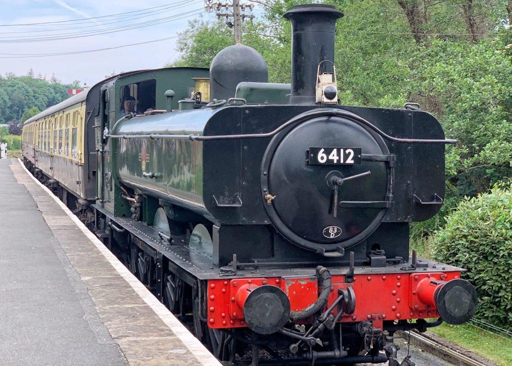 Steam Engine at Staverton Railway Platform