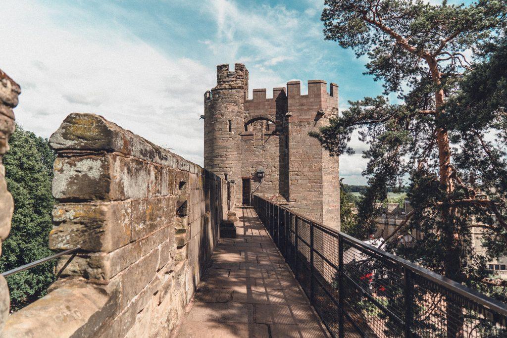 Warwick castle ramparts