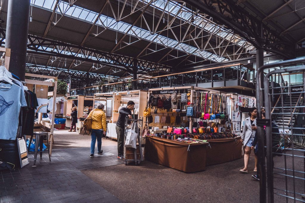 Old Spitalfields Market interior in London, England