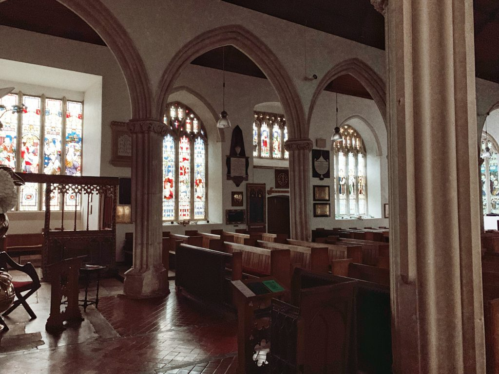 St Mary's Wolborough church, Newton Abbot, Devon, England