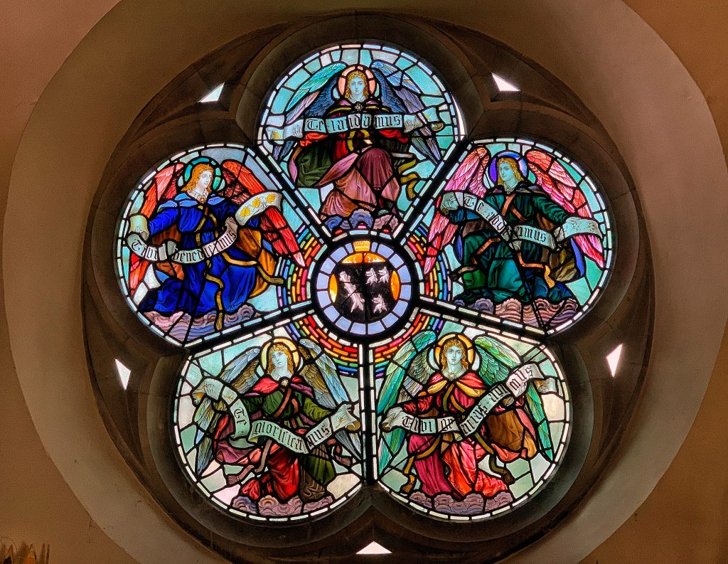 A Rose Window in Dartmouth church