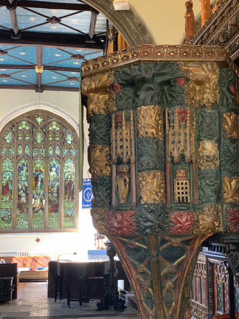 The Pulpit at St. Saviour's Church in Dartmouth