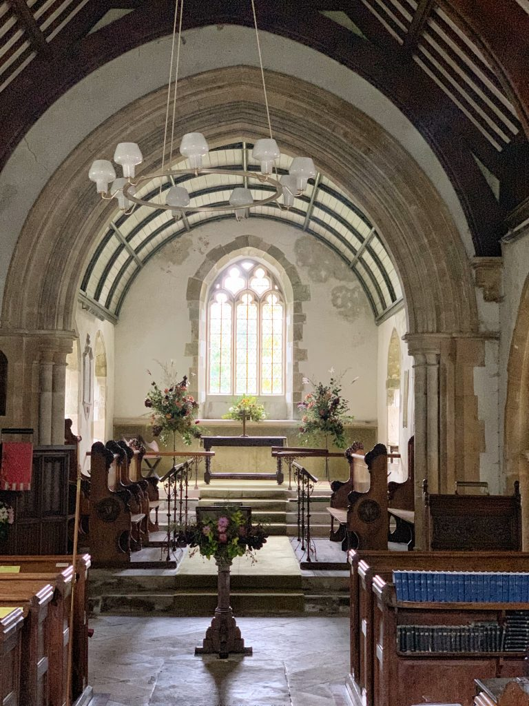View of the Chancel at Compton Chamberlayne Church in Wiltshire