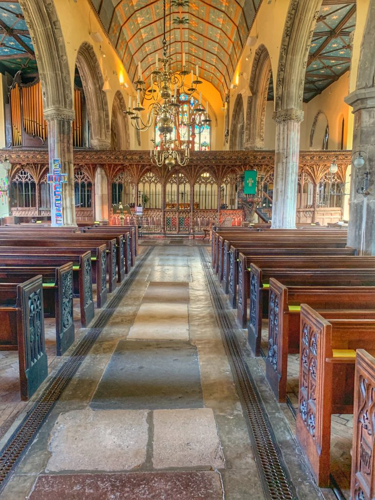 Interior of St. Saviour's Church in Devon