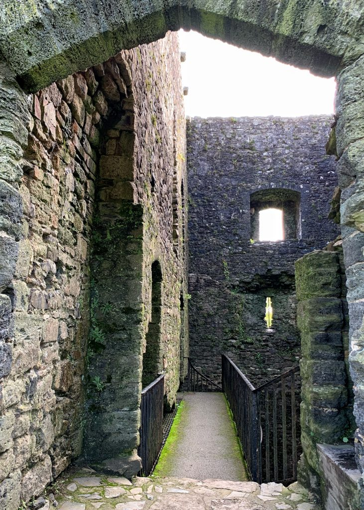 Interior view of Lydford Castle in Devon