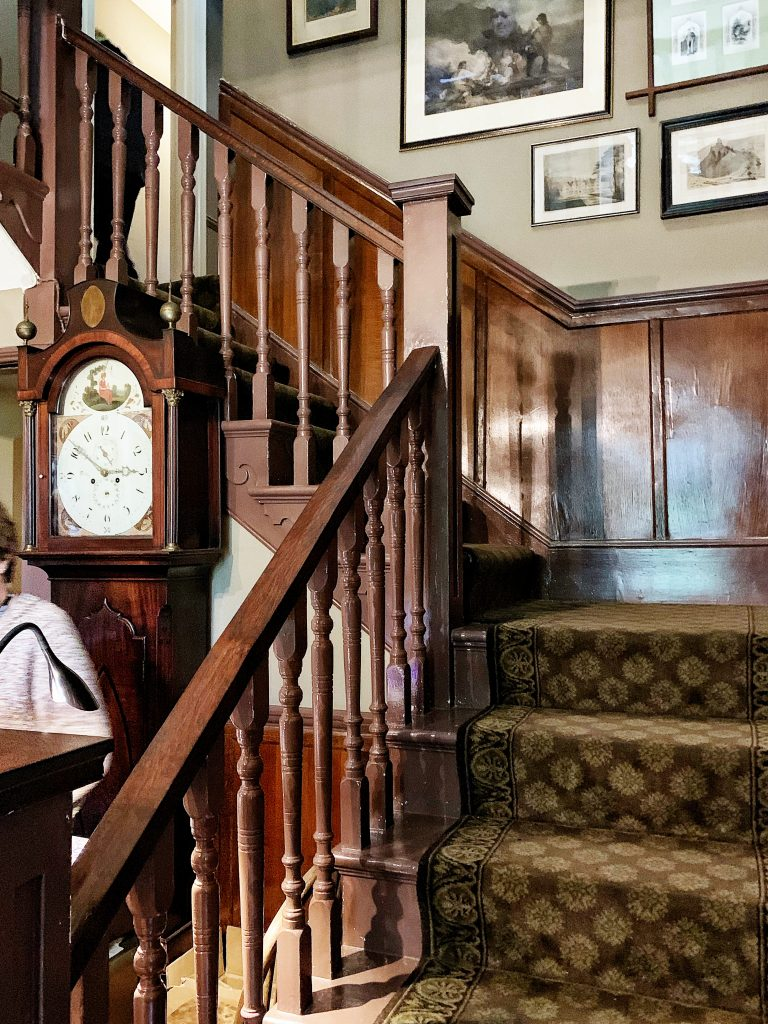 Staircase at Max Gate - Thomas Hardy's house in Dorchester