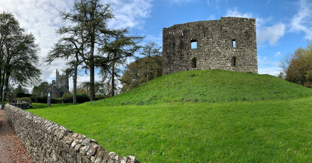 View of Lydford Castle in Devon