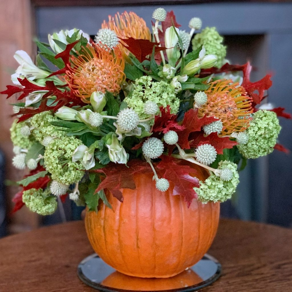 Pumpkin autumn Flower Arrangement