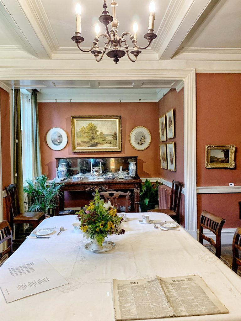 The Dining Room at Max Gate - Thomas Hardy's House in Dorchester