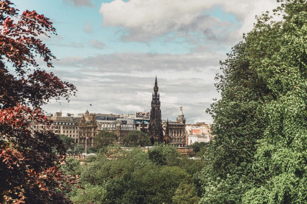 tower in Edinburgh Scotland