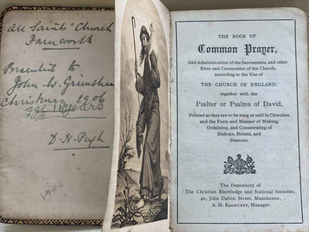 Frontispiece to Book of Common Prayer