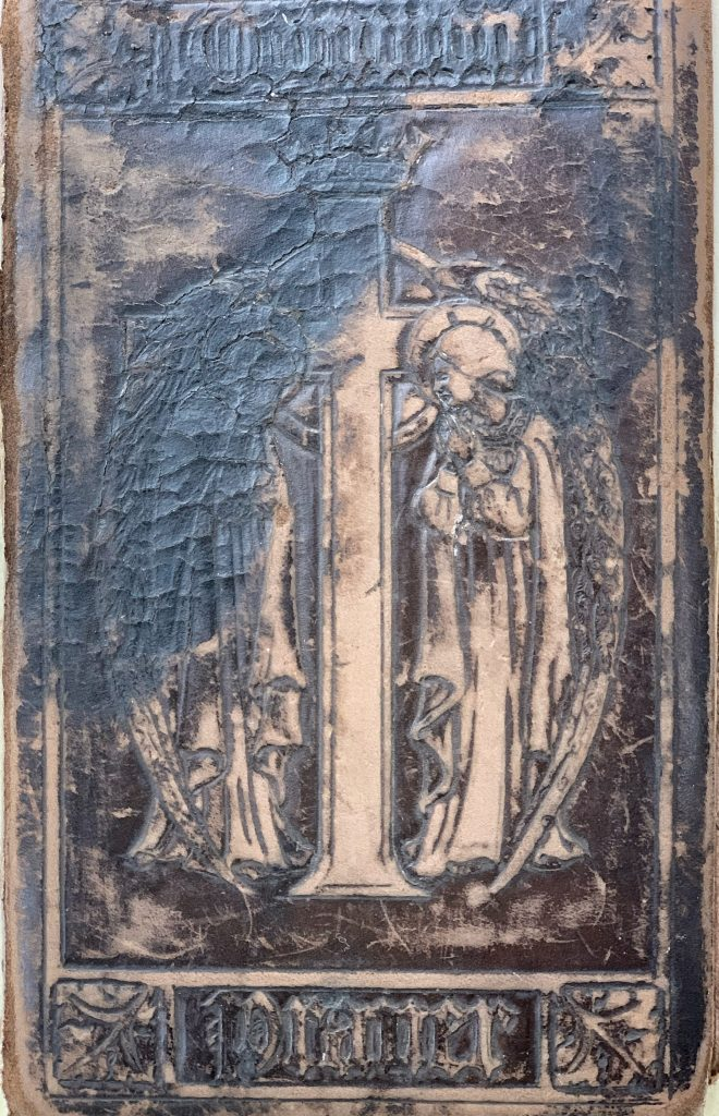 Attractive leather cover to and Arts and Crafts Book of Common Prayer