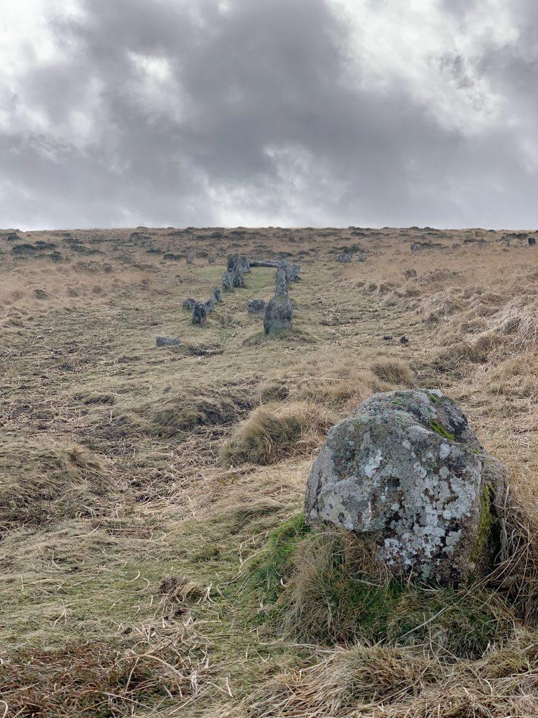 Stone Row at Shovel Down, near Kestor Rock, Dartmoor