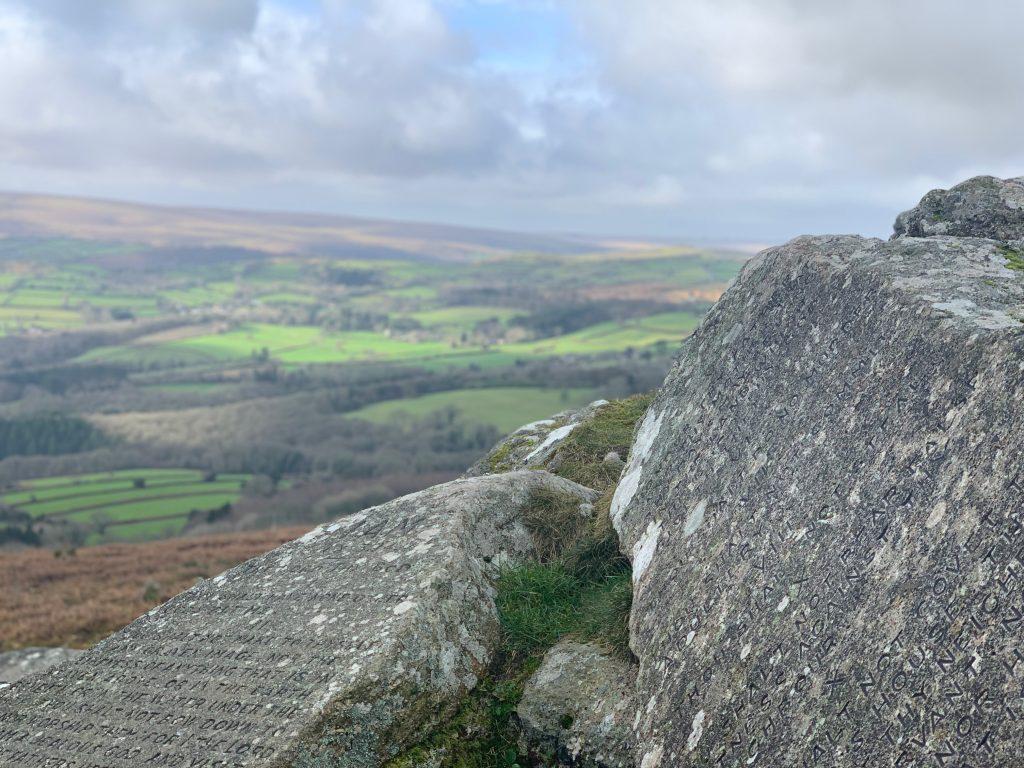 The Ten Commandments Tablets on Dartmoor