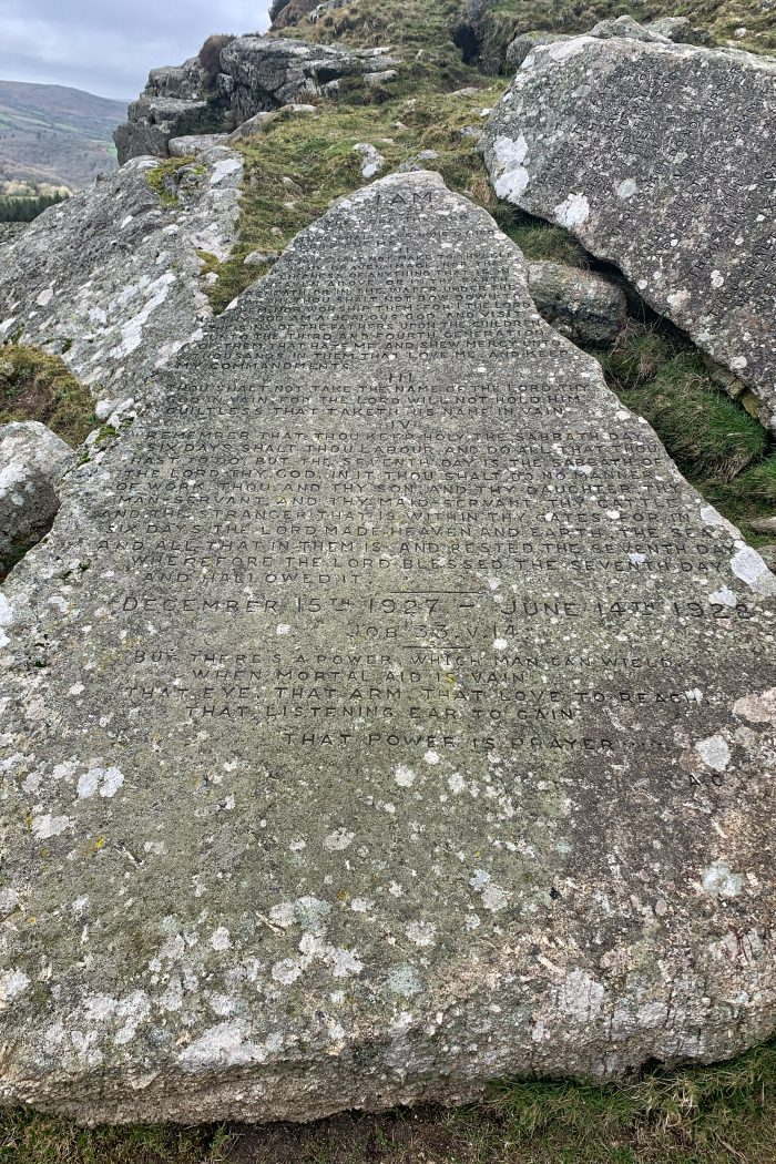 A Brief History of The Ten Commandments Stones on Dartmoor