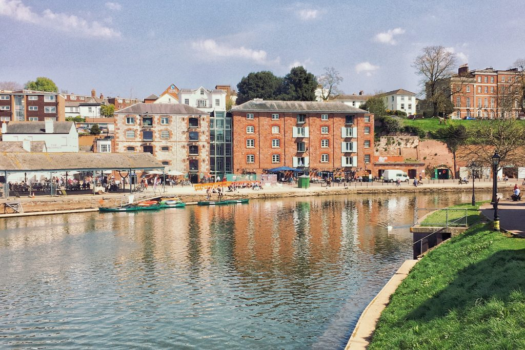 Relax along Exeter Quay
